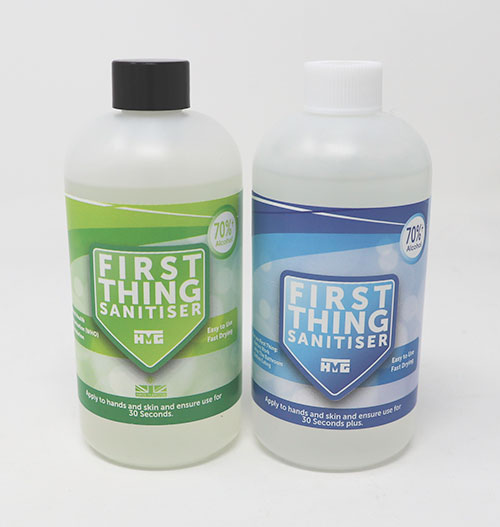 HMG Paints First Thing Sanitiser
