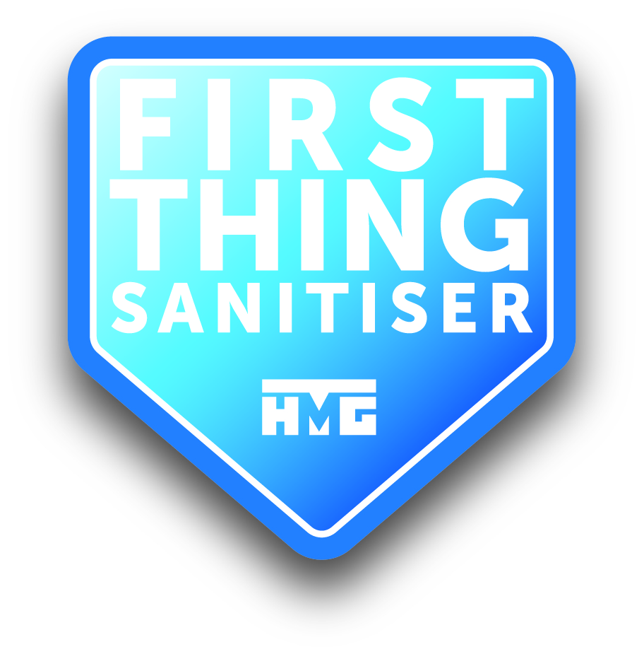 HMG Paints Hand sanitiser logo